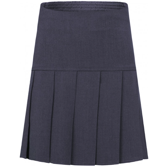 Girls Fan Pleat Skirt in Grey