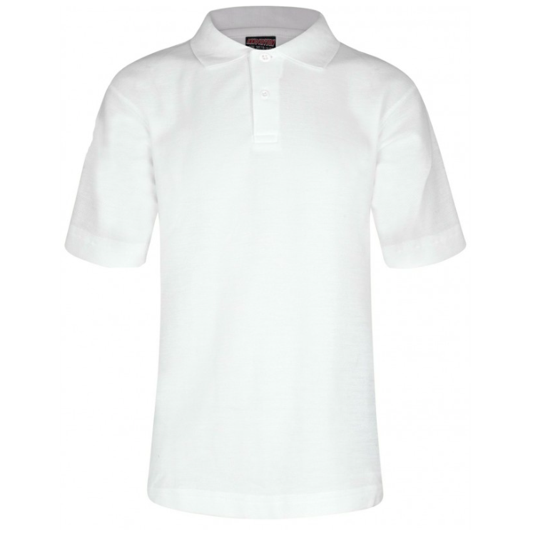 Polo Shirt in White with School Logo (Not Compulsory)